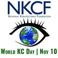 Logo for National Keratoconus Foundation World KC Day Nov 10